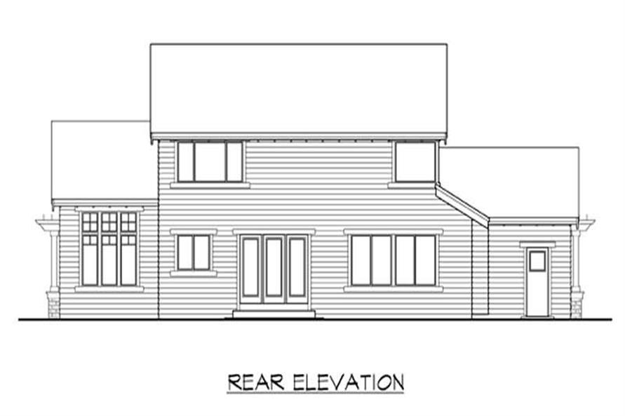 Home Plan Rear Elevation of this 3-Bedroom,2465 Sq Ft Plan -115-1383