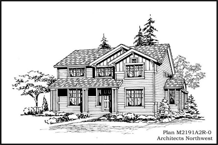 4-Bedroom, 2191 Sq Ft Multi-Level House Plan - 115-1384 - Front Exterior