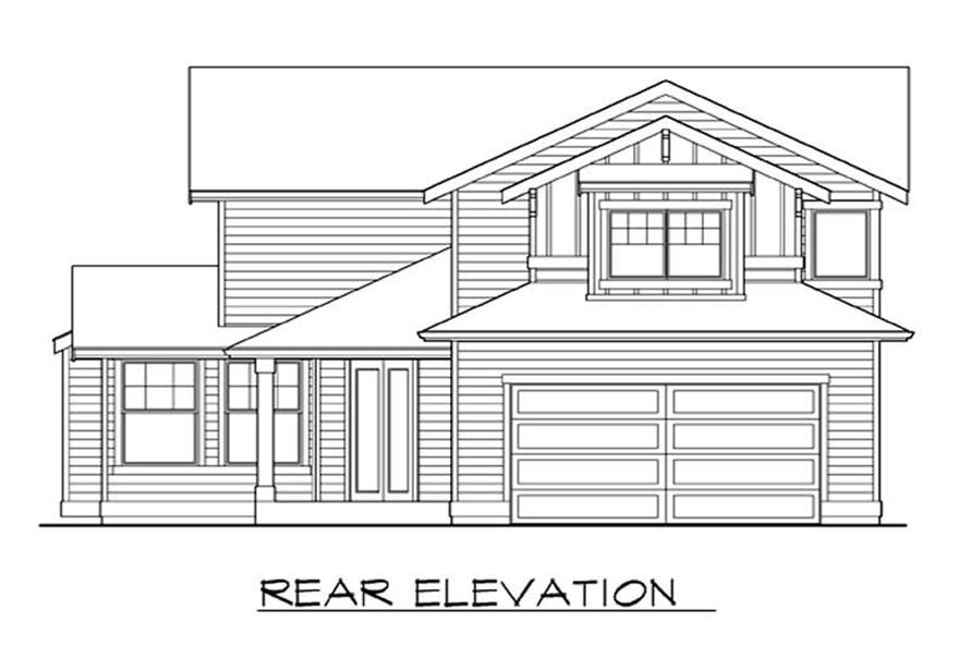 Home Plan Rear Elevation of this 4-Bedroom,2191 Sq Ft Plan -115-1384