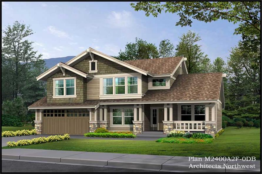 3-Bedroom, 3585 Sq Ft Ranch House Plan - 115-1385 - Front Exterior