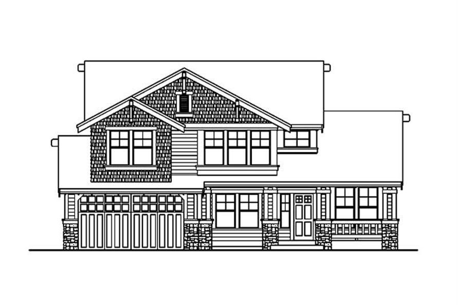 Home Plan Rear Elevation of this 3-Bedroom,3585 Sq Ft Plan -115-1385