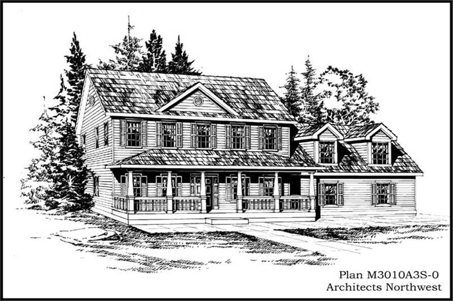 Home Plan Rendering of this 3-Bedroom,3010 Sq Ft Plan -115-1387