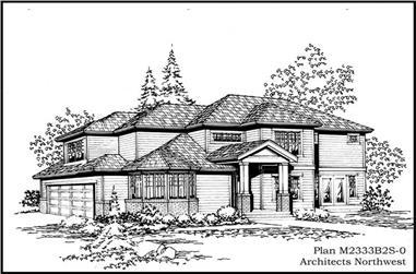 3-Bedroom, 2333 Sq Ft European Home Plan - 115-1389 - Main Exterior
