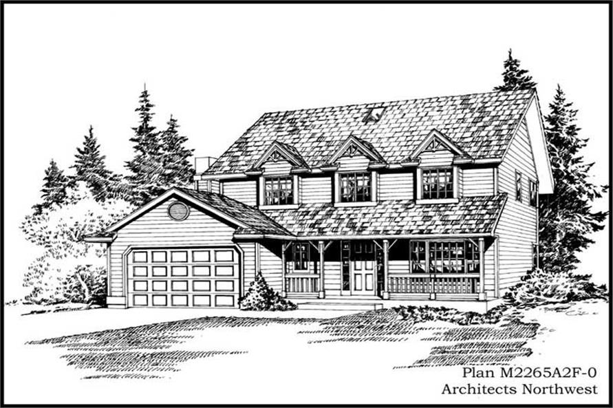 4-Bedroom, 2265 Sq Ft Cape Cod House Plan - 115-1390 - Front Exterior