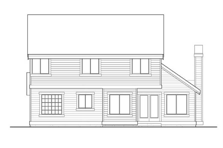 Home Plan Rear Elevation of this 4-Bedroom,2265 Sq Ft Plan -115-1390