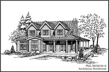 4-Bedroom, 2263 Sq Ft Cape Cod House Plan - 115-1391 - Front Exterior