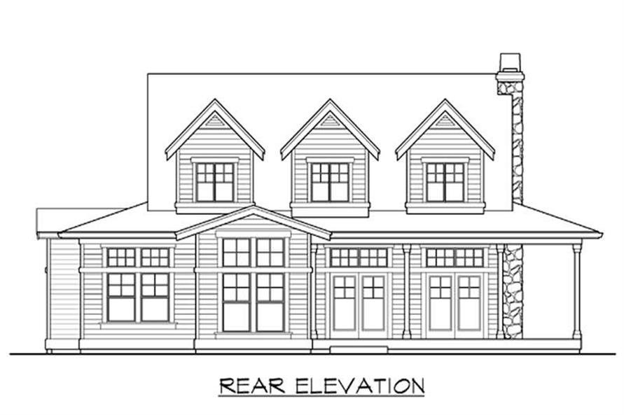 Home Plan Rear Elevation of this 4-Bedroom,2263 Sq Ft Plan -115-1391