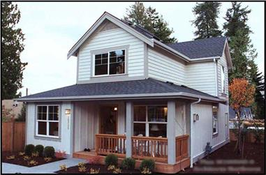1-Bedroom, 1000 Sq Ft Coastal Home Plan - 115-1392 - Main Exterior