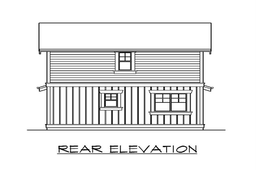 Home Plan Rear Elevation of this 1-Bedroom,1000 Sq Ft Plan -115-1392