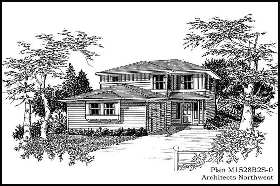 3-Bedroom, 1528 Sq Ft Multi-Level House Plan - 115-1393 - Front Exterior