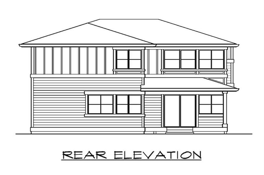 Home Plan Rear Elevation of this 3-Bedroom,1528 Sq Ft Plan -115-1393