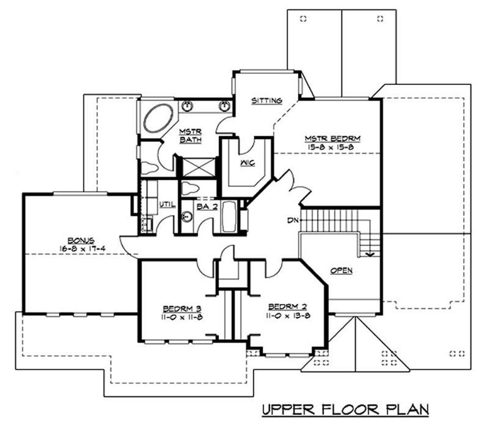 Craftsman house plans home design cd 2535 9315 for Second story floor plan