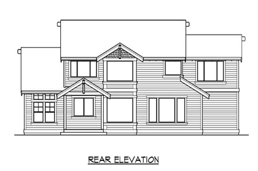 Home Plan Rear Elevation of this 3-Bedroom,2920 Sq Ft Plan -115-1395