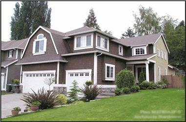 4-Bedroom, 2780 Sq Ft Craftsman Home Plan - 115-1396 - Main Exterior