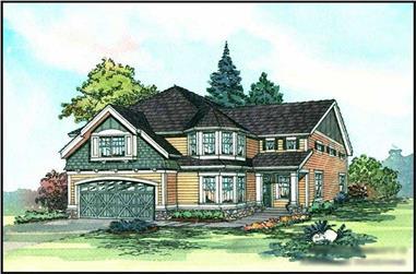 4-Bedroom, 2805 Sq Ft Craftsman Home Plan - 115-1398 - Main Exterior