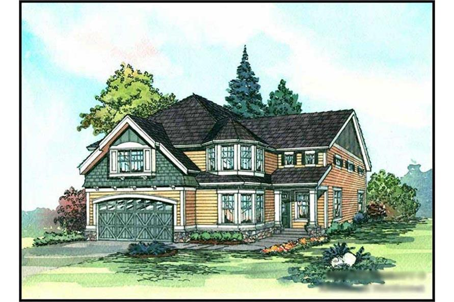 4-Bedroom, 2805 Sq Ft Craftsman Home Plan - 115-1398 - Main Exterior