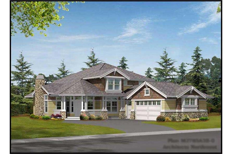 3-Bedroom, 2785 Sq Ft Craftsman Home Plan - 115-1399 - Main Exterior