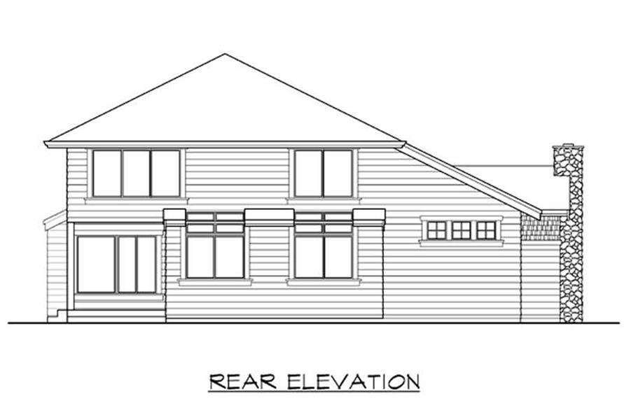Home Plan Rear Elevation of this 3-Bedroom,2785 Sq Ft Plan -115-1399