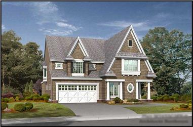 4-Bedroom, 3550 Sq Ft Tudor House Plan - 115-1401 - Front Exterior