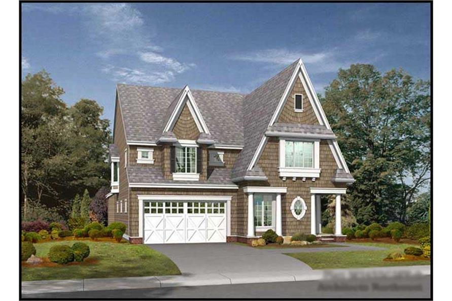 4-Bedroom, 3550 Sq Ft Tudor House Plan - 115-1401 - Front Exterior