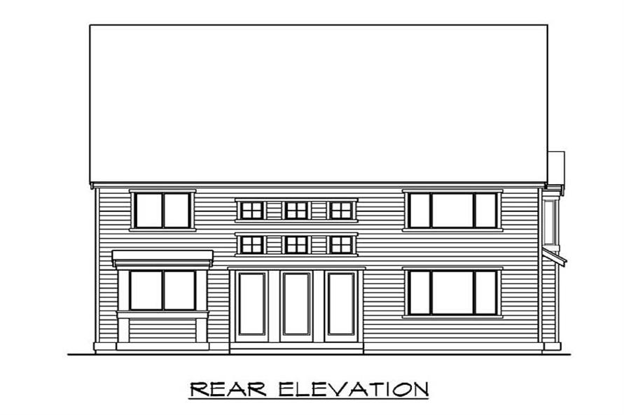 Home Plan Rear Elevation of this 4-Bedroom,3550 Sq Ft Plan -115-1401