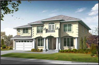 4-Bedroom, 3460 Sq Ft Georgian Home Plan - 115-1402 - Main Exterior