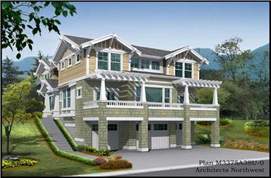3-Bedroom, 3375 Sq Ft Craftsman Home Plan - 115-1403 - Main Exterior