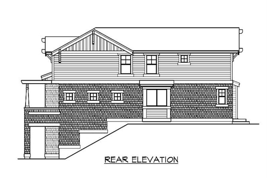 Home Plan Rear Elevation of this 3-Bedroom,3375 Sq Ft Plan -115-1403