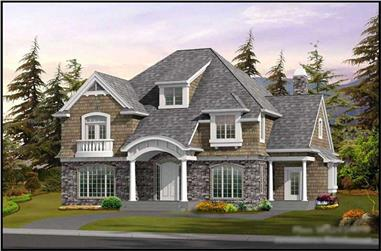 4-Bedroom, 3245 Sq Ft Historic Home Plan - 115-1404 - Main Exterior