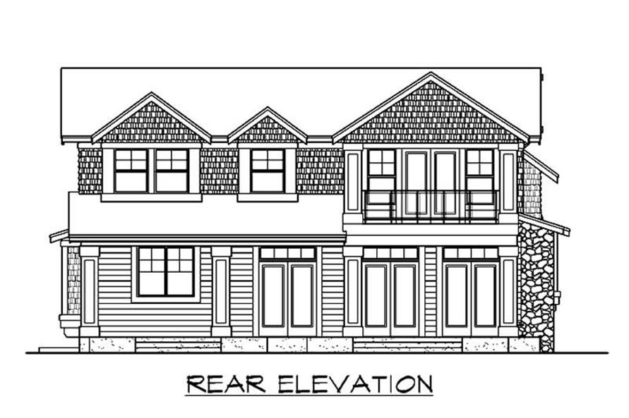 Home Plan Rear Elevation of this 3-Bedroom,3386 Sq Ft Plan -115-1405