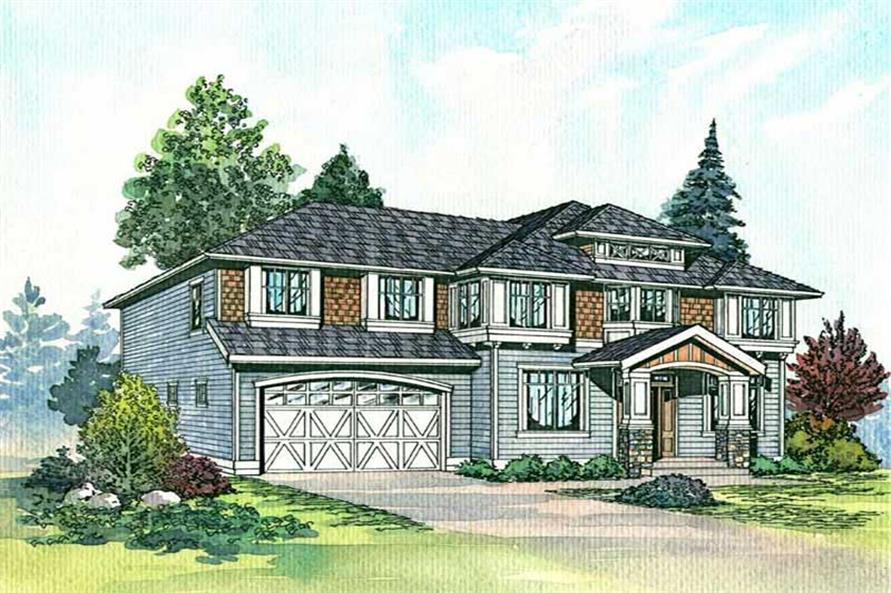 Home Plan Rendering of this 4-Bedroom,2980 Sq Ft Plan -115-1408