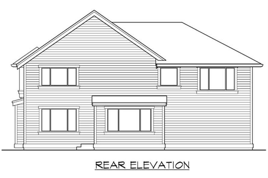 Home Plan Rear Elevation of this 4-Bedroom,2980 Sq Ft Plan -115-1408