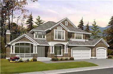 4-Bedroom, 3015 Sq Ft Craftsman House - Plan #115-1410 - Front Exterior