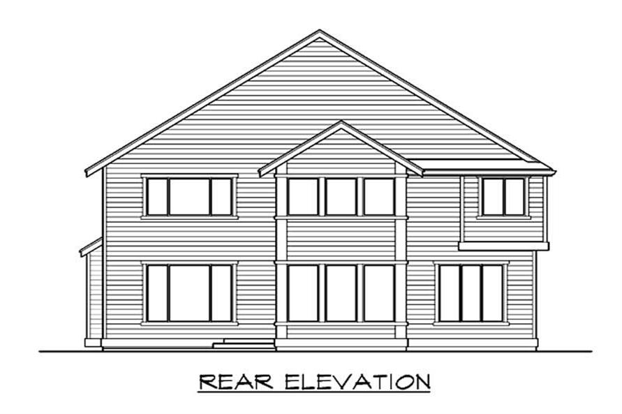 Home Plan Rear Elevation of this 4-Bedroom,3238 Sq Ft Plan -115-1412