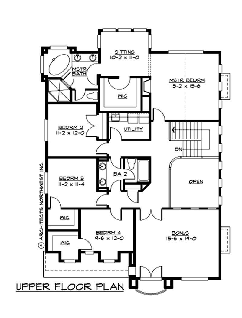 Traditional house plans home design cd 3300c 9327 for 40 ft wide house plans