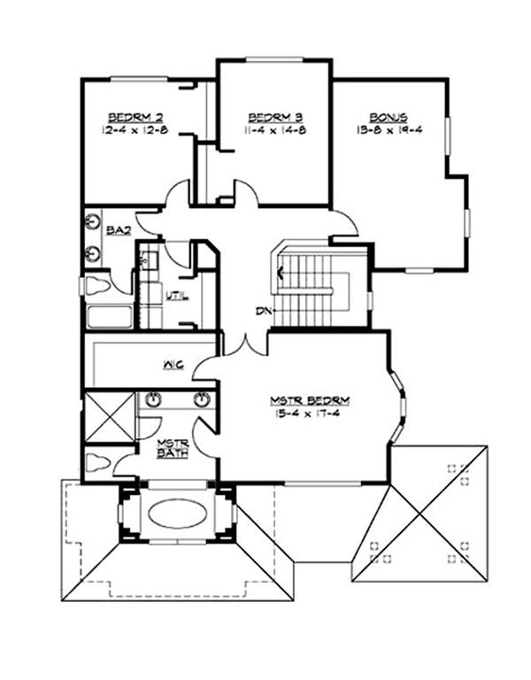 115-1413 house plan upper floor.