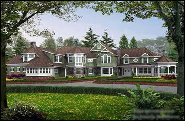 5-Bedroom, 7400 Sq Ft Craftsman Home Plan - 115-1414 - Main Exterior
