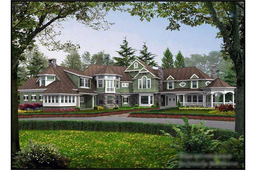 Craftsman Shingle Luxury House Plans Home Design CD 7400 9330