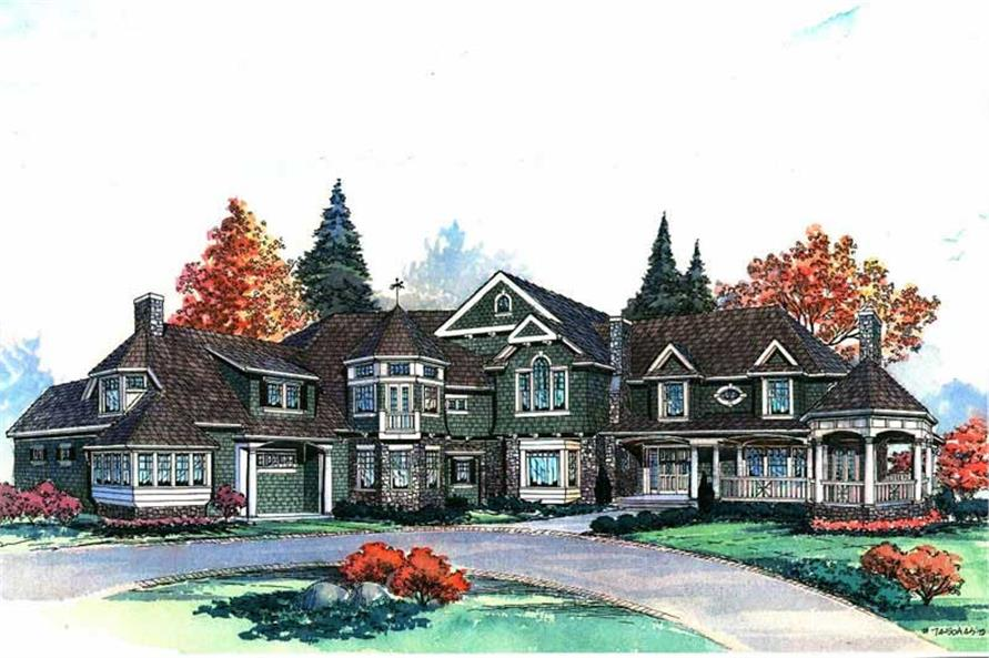 Home Plan Rendering of this 5-Bedroom,7400 Sq Ft Plan -115-1414