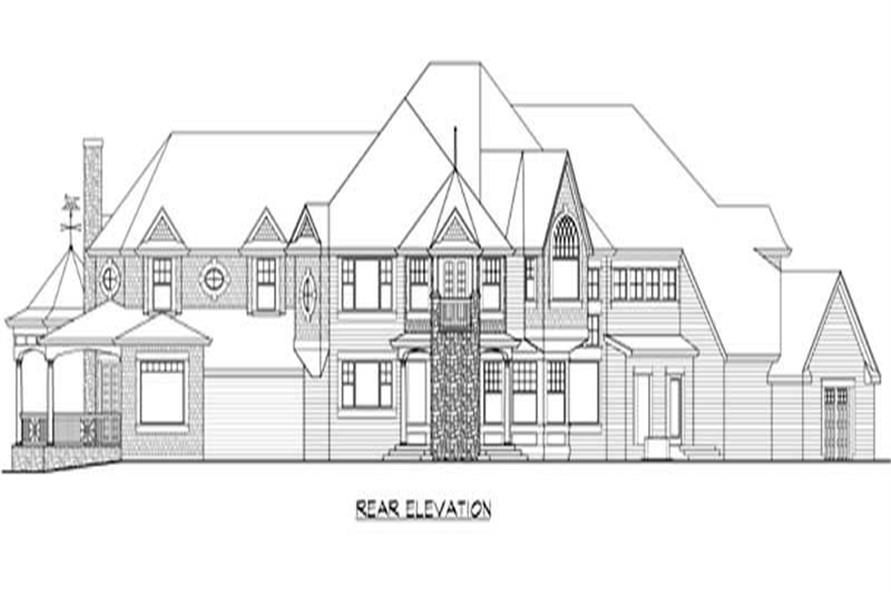 Home Plan Rear Elevation of this 5-Bedroom,7400 Sq Ft Plan -115-1414