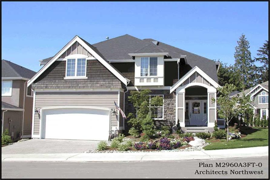 Exterior Photo of this 4-Bedroom,2960 Sq Ft Plan -2960