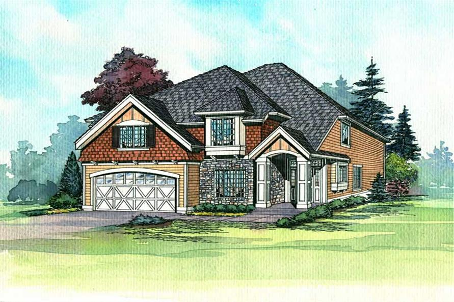 Main Elevation of this 4-Bedroom,2960 Sq Ft Plan -2960