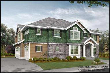 4-Bedroom, 3735 Sq Ft Colonial House Plan - 115-1417 - Front Exterior