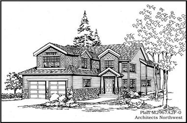 4-Bedroom, 2967 Sq Ft Traditional House Plan - 115-1418 - Front Exterior