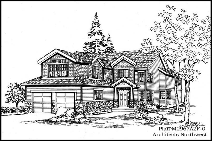 4-Bedroom, 2967 Sq Ft Multi-Level House Plan - 115-1418 - Front Exterior
