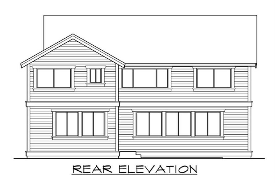 Home Plan Rear Elevation of this 4-Bedroom,2967 Sq Ft Plan -115-1418