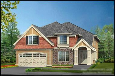 4-Bedroom, 4106 Sq Ft Shingle-Style House Plan - 115-1419 - Front Exterior