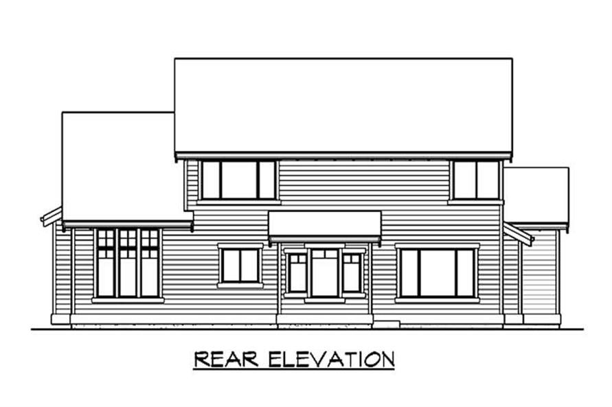 Home Plan Rear Elevation of this 3-Bedroom,2512 Sq Ft Plan -115-1424