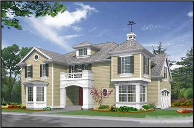 4-Bedroom, 2775 Sq Ft Historic House Plan - 115-1425 - Front Exterior