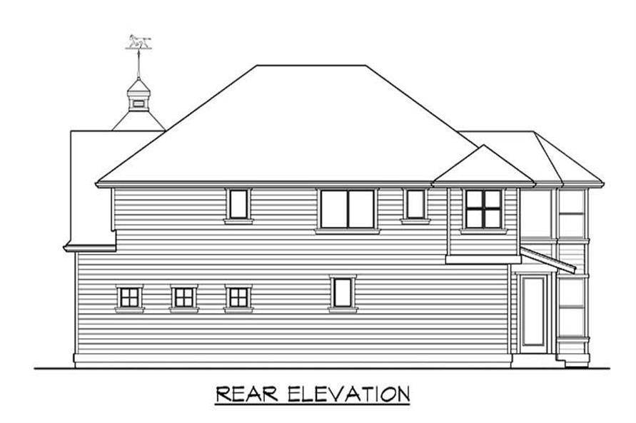 Home Plan Rear Elevation of this 4-Bedroom,2775 Sq Ft Plan -115-1425